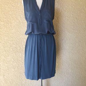 Loft Sleeveless Dress Blue